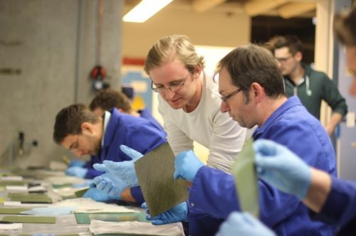Praktischer Anteil des Fertigungsseminars zu FVK für Teilnehmer aus der Industrie