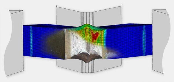 Simulation vs. Experiment eines Kerbschlagbiegeversuchs